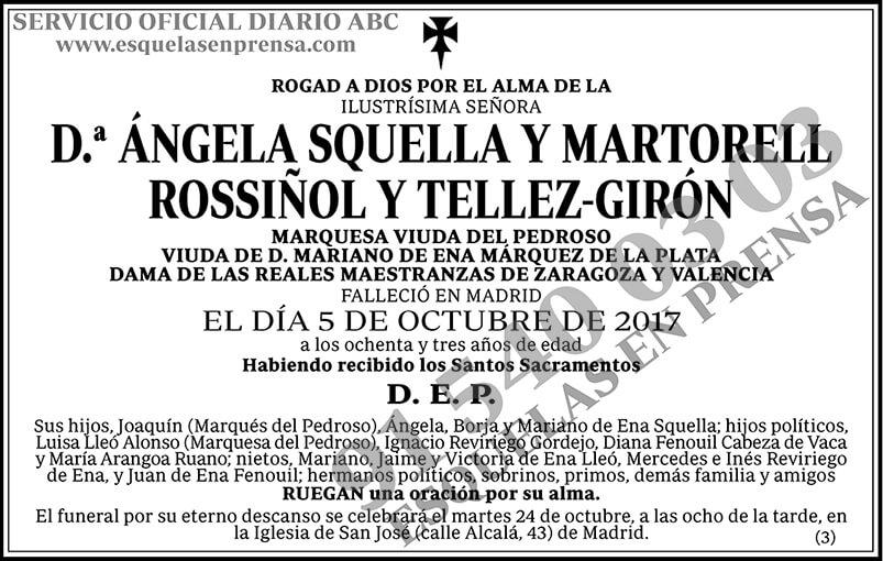 Ángela Squella y Martorell Rossiñol y Tellez-Girón